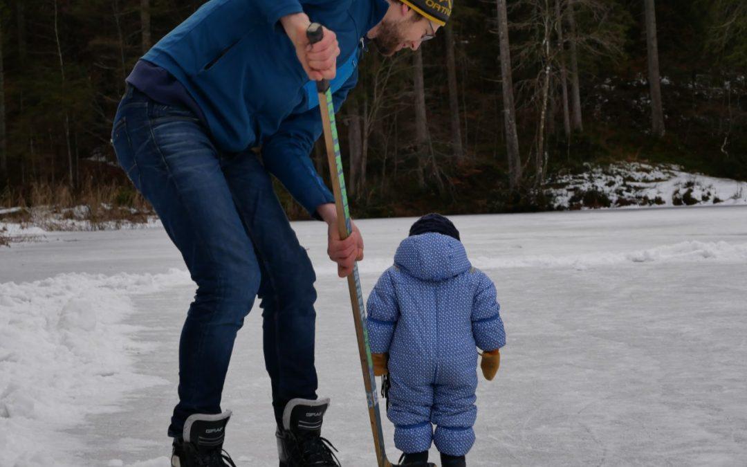 Sonne, See, Eislaufen und …platsch!