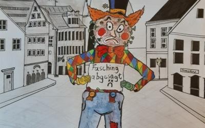 Karikatur/Zeichnung der Woche: Fasching? Heuer nicht! Leider.