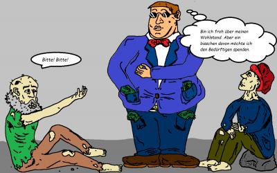 Karikatur/Zeichnung der Woche: Arm und reich – die Kluft wird größer